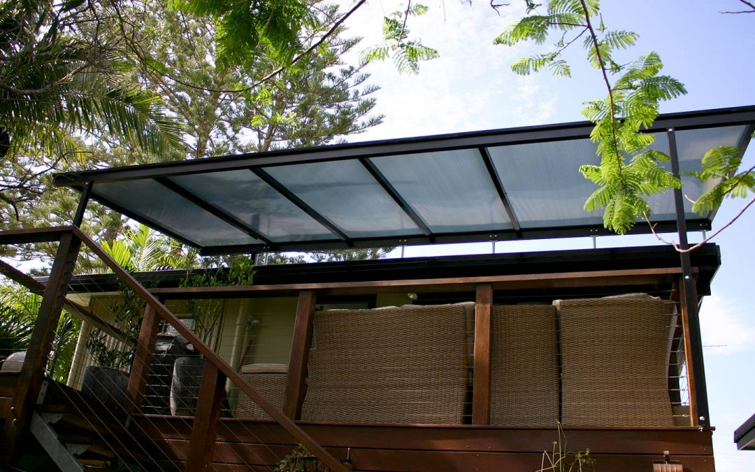 Case Study: Polycarbonate Flyover Patio Cover over Existing Timber Deck in Brunswick Heads