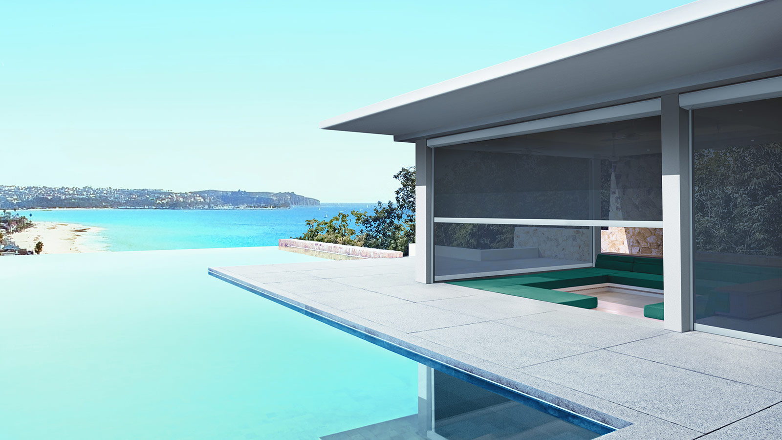 Zip and Side Retention Fabric Awnings