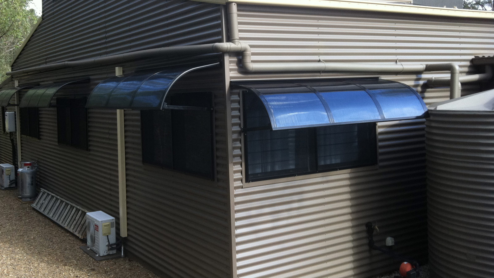 Fixed Hood Bullnose Atlas Awnings