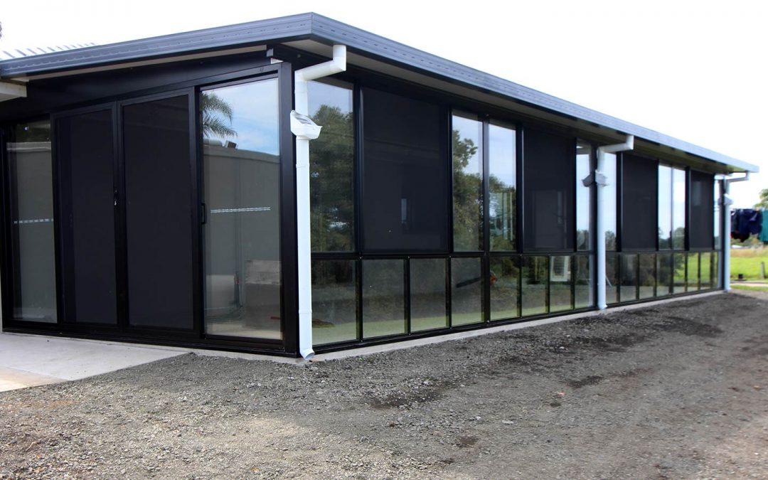 Glass enclosed patio creates a new room in Casino
