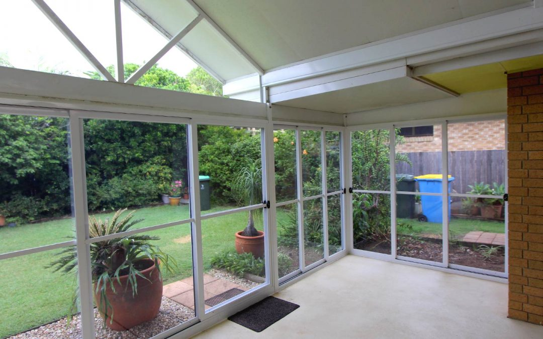 Enclosing existing Patio area with sliding Patio Panels in East Ballina