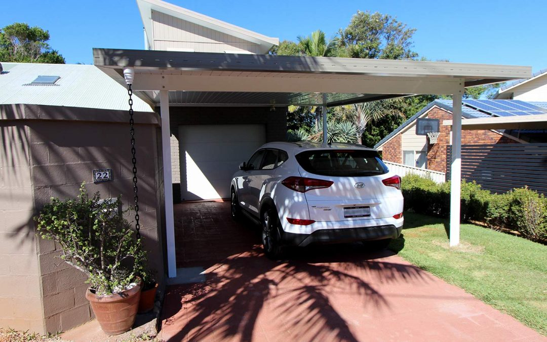 A Carport in Lennox Head to utilise Space